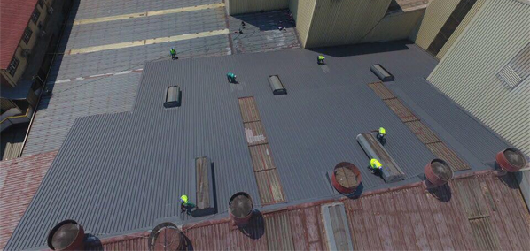 Industrial Rubberised roof
