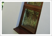 Wooden Window Frame & Window Sill